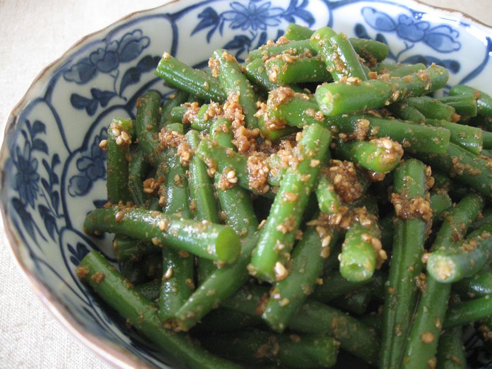 Vegetables_Beans_Gomaae